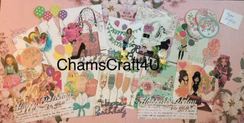 Craft clearout mix card toppers paper die cuts bundle joblot birthday 2