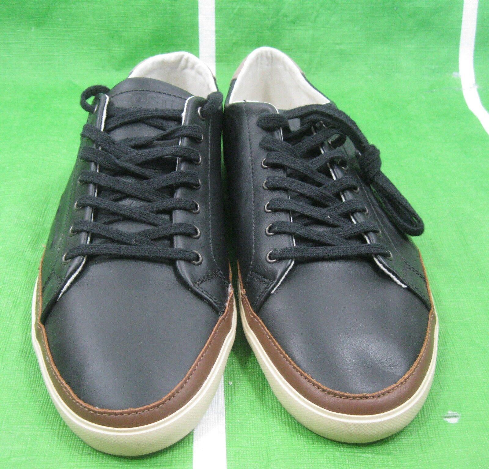 f27ff2fde6b ... Lacoste Bocana Bocana Bocana 6 SRM Leather Men s Shoes BLACK BONE  7-25srm22252 Size ...