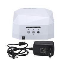 36W 12V LED CCFL Nail UV Gel Lamp Dryer Light-curing Machine Diamond Shaped