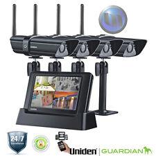 UNIDEN Digital Wireless Surveillance System - 4 x Weatherproof Cameras - Wireles