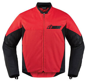 ICON-Motosports-KONFLICT-Textile-Motorcycle-Jacket-Red-Choose-Size