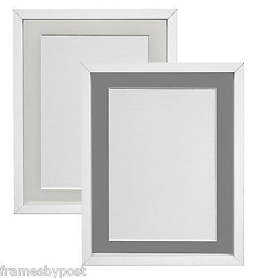 White or Black RIO Photo Picture Frames with Light Grey or Dark Grey Mounts