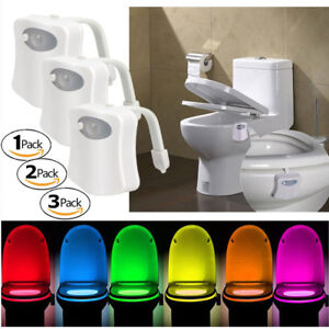 Pleasant Details About Toilet Night Lights Bowl Bathroom Led 8 Color Sensor Lamp Motion Activated Light Beutiful Home Inspiration Xortanetmahrainfo