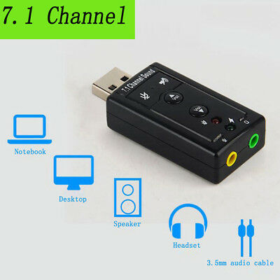 100/% Brand New USB 7.1 Channel Audio Device Sound Card Adapter For Laptop PC