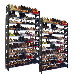 20-Tier Shoe Rack 100 Pair Wall Bench Shelf Closet Organizer Storage Box Stand