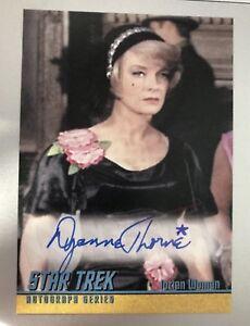 STAR-TREK-TOS-HEROES-amp-VILLAINS-Autograph-Card-A254-DYANNE-THORNE