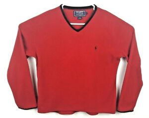 About Size M Sport Ralph Fleece Details 90's Polo Crewneck Vintage Red Men's Sweatshirt Lauren uTcJlF3K1