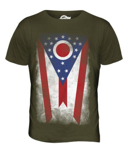 Ohio State se desvaneció Bandera Para hombres Camiseta Camiseta Top ohioan Regalo De Camisa Jersey