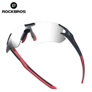 ROCKBROS-Cycling-Photochromatic-Rimless-Sunglasses-Glasses-UV400-Goggles
