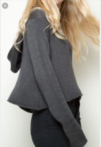 Crop Soft Grey Pullover Josephine Melville Super Sweater sjældent Brandy Hoodie qgwXtOC