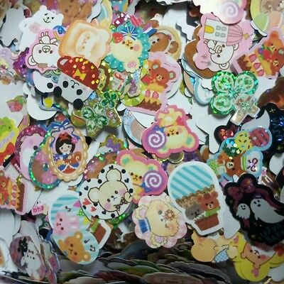 Lot 50pc cute kawaii flake sack sticker + 50 mini memo sheet