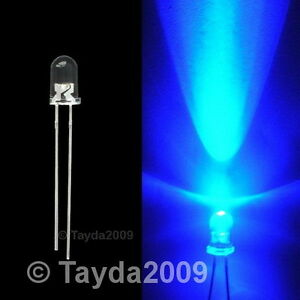 100-x-LED-5mm-Blue-Water-Clear-Ultra-Bright-FREE-SHIPPING