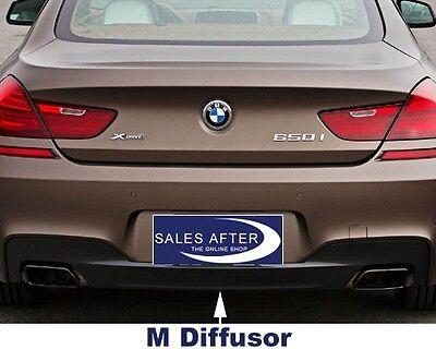 Original BMW F06 F12 F13 M Diffusor für M Heckschürze Blende Heckdiffusor 650i