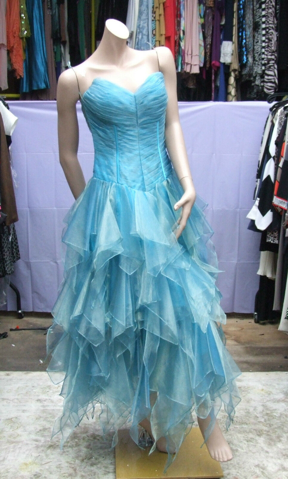 Exquisite Dress BNWT Frozen Ice Princess Blau Moon Romantica Evening Gown UK 10