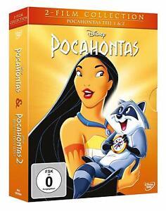 Pocahontas-parte: 1 + 2 [2 DVD's/Nuovo/Scatola Originale] WALT DISNEY CLASSICO di 1995 + 1998