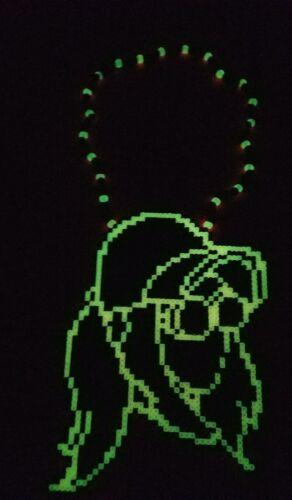 Rezz kandi perler necklace EDC PLUR glow in the dark melty hama art rave edm DJ