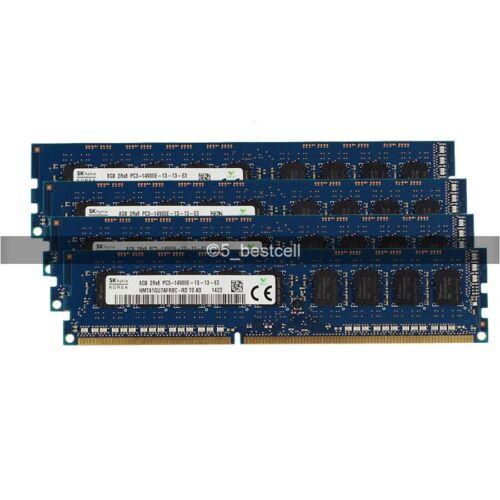 8GB 16GB 32GB 64GB DDR3 2RX8 1866 MHz PC3-14900E 240pin ECC Unbuffered UDIMM LOT