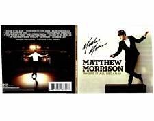 Glee Matthew Morrison signed Where It All Began CD