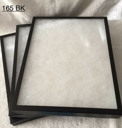 "#165 8 Riker Mount Display Case Shadow Box Frame Tray 16"" X 12"" X 1 14"""
