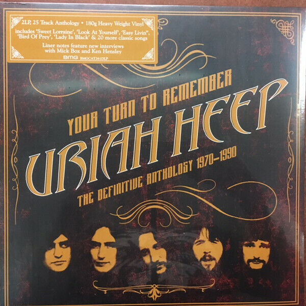 Uriah Heep Your Turn To Remember The Def Lp For Sale Online Ebay