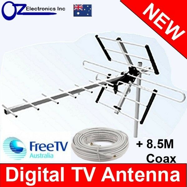 Greentek Outdoor TV Antenna UHF VHF FM 4 AUSTRALIAN conditions Country Areas