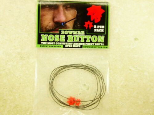Bowmar Archery Nose Button Red 2 Pack NEW!