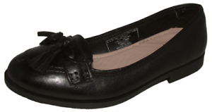 Older Girls Black FULL Leather  F /& F Tassle Loafer School Work Shoes 1-6 Jnr