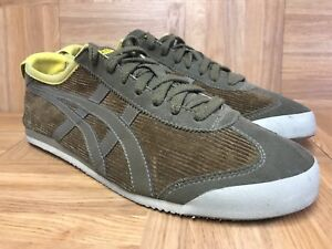 pretty nice c6518 e76d6 Details about RARE🔥 Asics Onitsuka Tiger Mexico '66 Retro Shoes D2N4N  Corduroy Olive 9.5 Gold