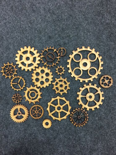 3mm MDF Wooden Cogs assorted designs