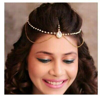 New Matha Patti Hijab Jewellery Chain Gold Indian Tikka Headpiece