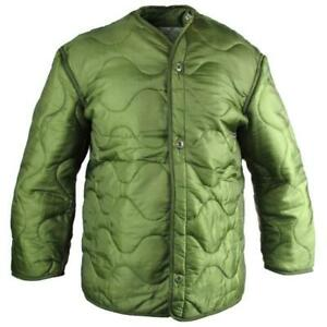 US-Army-Military-M65-Field-Jacket-Quilted-OD-Green-GI-Coat-Liner-M-65-S-M-L-XL
