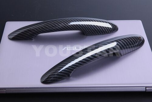 UK STOCK Pair CARBON Effect Door Handle Covers for MINI Cooper S 2014 on F56 F57