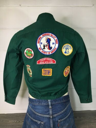 BSA Jacket Jamboree Vtg 60s Boy Scout Patches Port