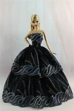 Black Fashion Princess Party Dress/Evening Clothes/Gown For Barbie Doll S328U