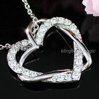 Heart Pendant 18k Necklace Use Swarovski Crystal Sn161