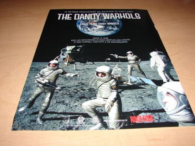 THE DANDY WARHOLS - EARTH TO!!!!!!!!FRENCH PRESS ADVERT