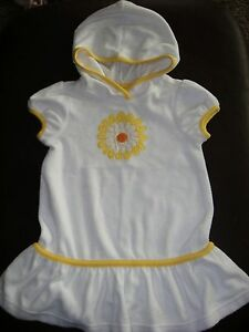 83fd1cd3e5 Image is loading Gymboree-Daisy-Days-white-terrycloth-hooded-swim-cover-
