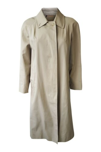 BURBERRY Classic Beige garbadine unbelted trench coat afficher le titre d'origine
