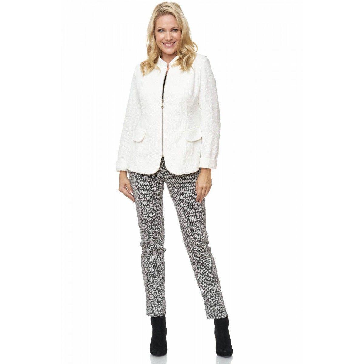Pantalones Deslizamiento sin Cremallera Forma de Pretina Elástica black whiteo