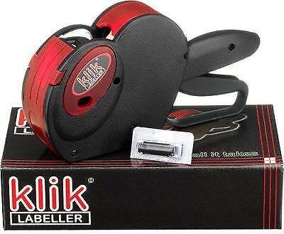 klik K16-2 Line Price Date Gun 1000 free Price Labels spare Ink Roller
