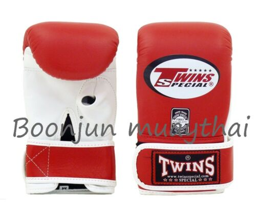Twins Special Muay Thai Boxing Training Bag Gloves TBGL3H Open Thumb Black White