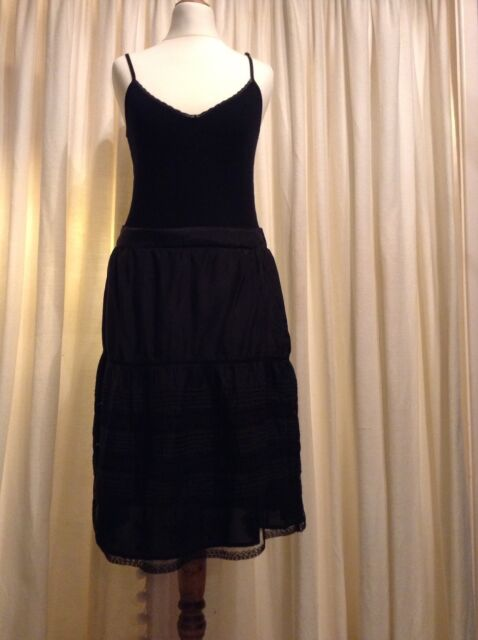 Oasis Black Lace skirt size 8