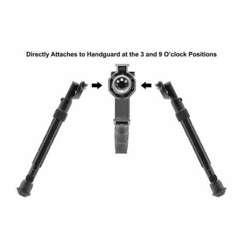 "11.8/"" Aluminium UTG Recon Flex M-LOK bipode Noir Mat Centre hauteur 8/"""