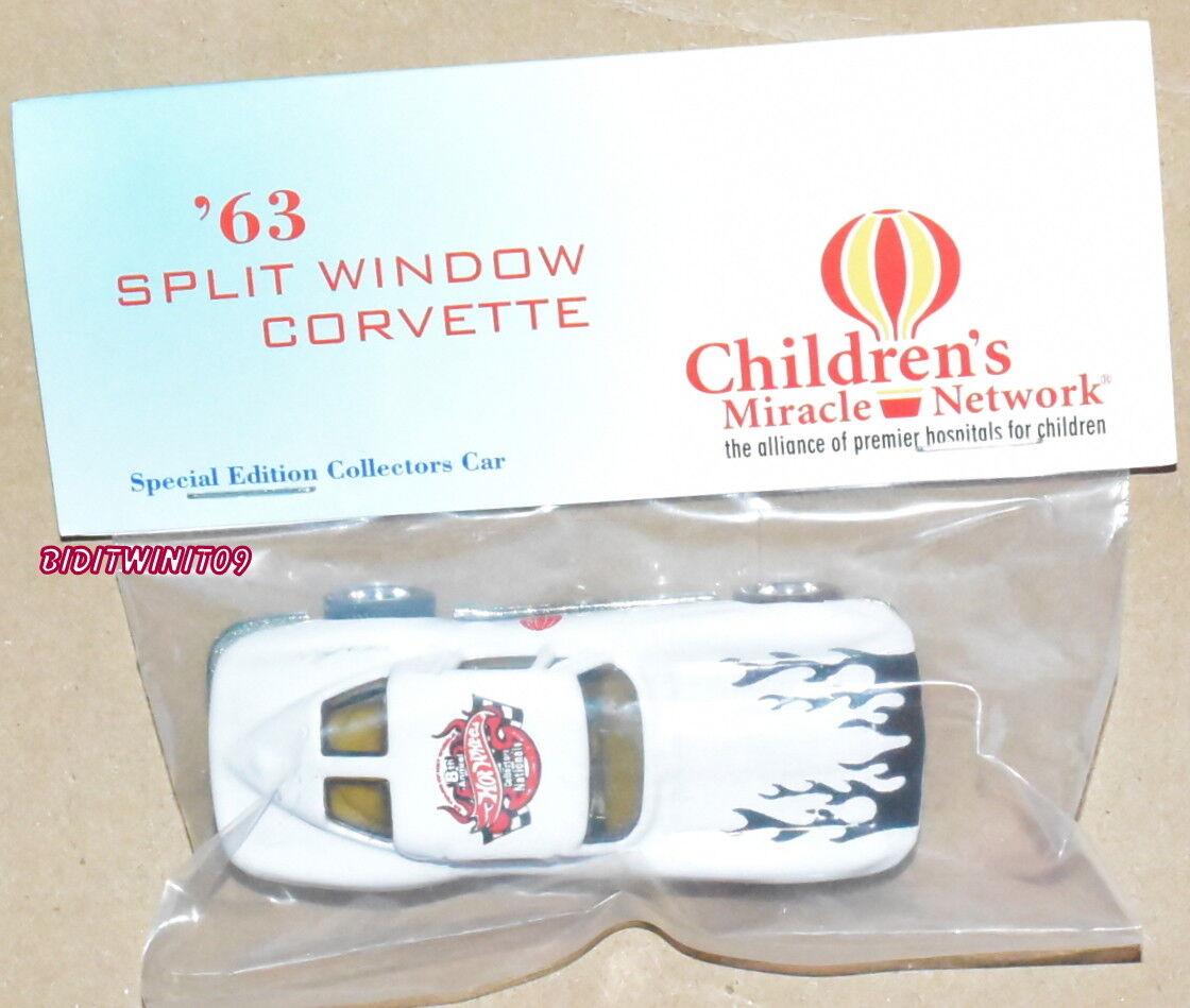 Hot Wheels 8TH Annual Nacionales '63 Separado Ventana Corvette biancao Real
