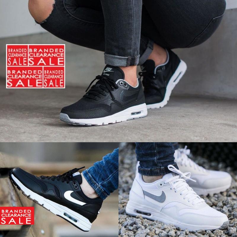 BNIB New Women Nike Air Max 1 Ultra Essentials Black White 3 4 5 6 7 uk