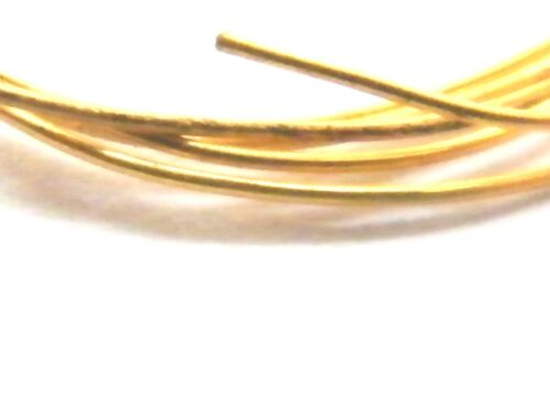 9ct Yellow Gold Solid Round Wire Soft 0.40mm x 100mm-Jewellery Making 26-Gauge