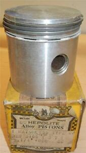 1935-1940-Matchless-500cc-original-NOS-82-5mm-020-034-bore-Heplex-piston-assembly
