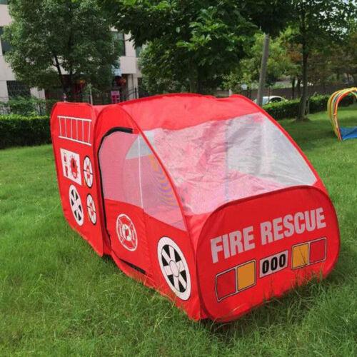Portable Travel Pop-up Play Tent Boy Girl Fire Truck Design Ball Pit Hut Toy