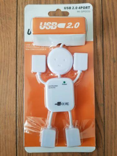 4 PORTA USB HUB Bot PC Mac compatibili con V2.0 alta velocità di Estensione Adattatore Computer