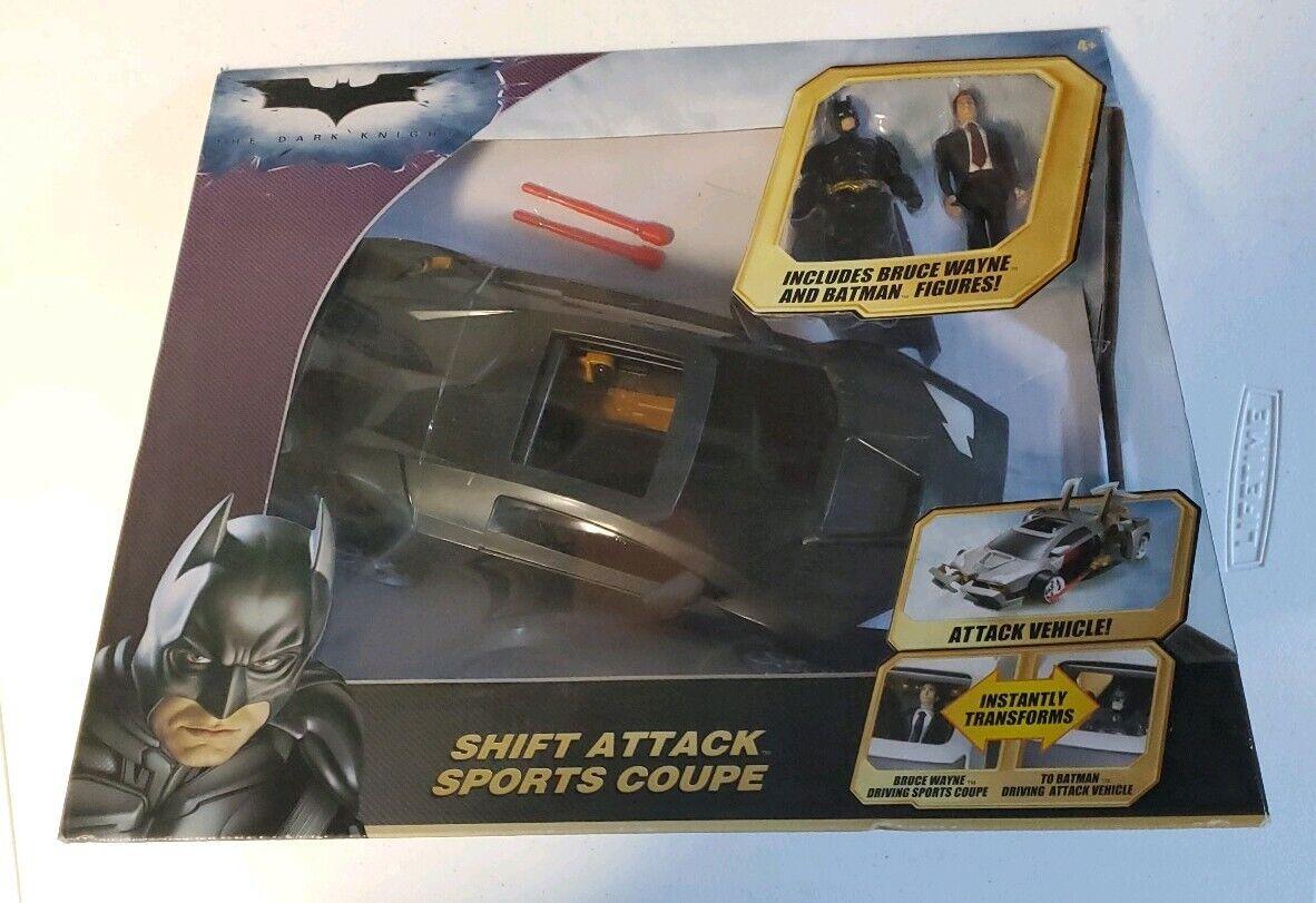The Dark Knight Batman Shift Attack Sports Sports Sports Coupe New in Sealed Box (Free Ship) 353